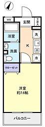 サニーコート万寿[3階]の間取り