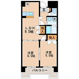 リリーマンション1号館[2階]の間取り