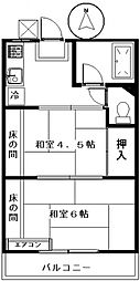 大竹コーポA[101号室号室]の間取り