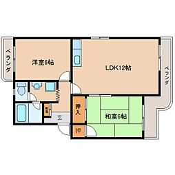 静岡県静岡市駿河区中原の賃貸マンションの間取り