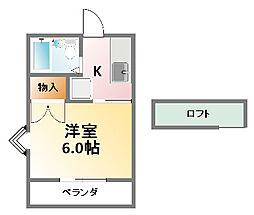 千葉県大網白里市大網の賃貸アパートの間取り