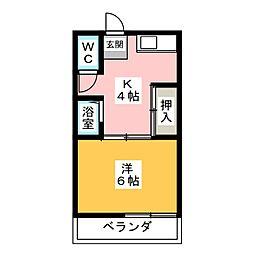 岩渕 松鶴荘[2階]の間取り