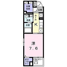 東京都八王子市小門町の賃貸マンションの間取り