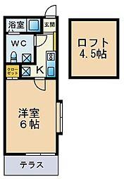 マ・ピエス津田山[101号室]の間取り