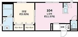都営三田線 白山駅 徒歩7分の賃貸マンション 1階1LDKの間取り