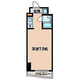 テディマンション[6階]の間取り