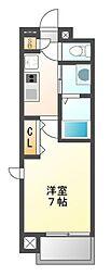 愛知県名古屋市中村区並木1丁目の賃貸マンションの間取り