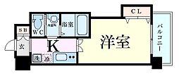 Luxe新大阪EASTII 9階1Kの間取り