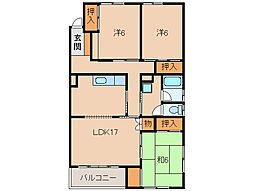 クラウンハイツ東高松[2階]の間取り
