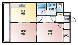 メゾン・ドゥ・ヴァン上赤江[303号室]の間取り