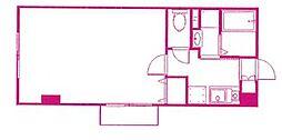 エクシードハイツB[2階]の間取り