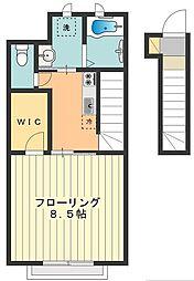 ブランシェ中神[2階]の間取り