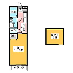 ハウスフォー B[2階]の間取り