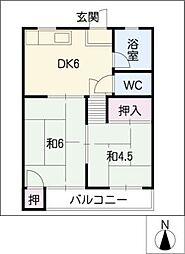 成田マンション[2階]の間取り