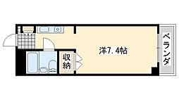 ロンネスト WAVE HOUSE[407号室]の間取り