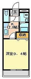 ソレイユ弐番館[2階]の間取り