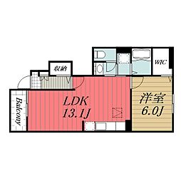 JR成田線 布佐駅 徒歩5分の賃貸アパート 1階1LDKの間取り