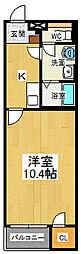 クレイノHIKARI[2階]の間取り
