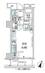パークアクシス赤坂見附[9階]の間取り
