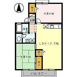 ハーモニック フィールII B棟[203号室]の間取り