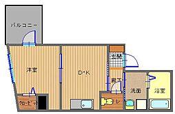 長崎県長崎市油屋町の賃貸マンションの間取り