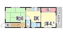 [一戸建] 兵庫県神戸市東灘区本山中町1丁目 の賃貸【兵庫県 / 神戸市東灘区】の間取り