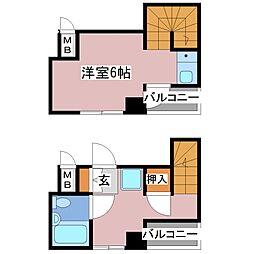 ユーハイム[2階]の間取り