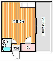 プレアール浜口西[4階]の間取り