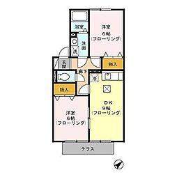 ヴェルデュール[2階]の間取り
