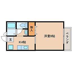 静岡県静岡市駿河区谷田9丁目の賃貸アパートの間取り