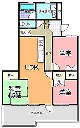 コーキマンション K−2[305号室]の間取り