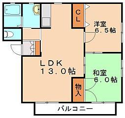 バリュージュA[2階]の間取り