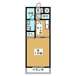 ハートフル泉田[1階]の間取り