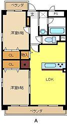 愛知県名古屋市緑区鳴海町の賃貸マンションの間取り