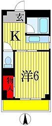 三上マンション[2階]の間取り