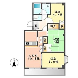 マロンステージB棟[3階]の間取り