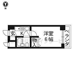 エスリード京都河原町第2 302[3階]の間取り