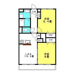 クナイマンション[1階]の間取り
