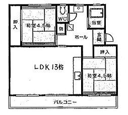 カワモトビル[402号室]の間取り