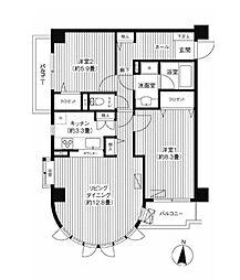 東京都世田谷区下馬6丁目の賃貸マンションの間取り