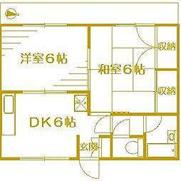 プラムガーデンA[1階]の間取り