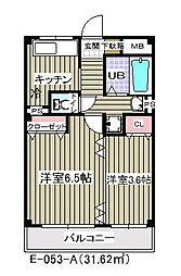 千葉県市川市妙典5丁目の賃貸マンションの間取り