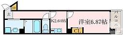 Osaka Metro谷町線 都島駅 徒歩4分の賃貸マンション 6階1Kの間取り