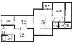 クスノキ住宅[2階]の間取り