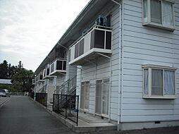長野県飯田市松尾清水の賃貸アパートの外観