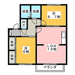 コスモ松下[2階]の間取り