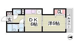 ル・ムーブル井村[5階]の間取り
