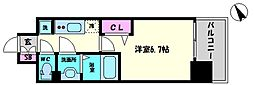 プレサンスOSAKA DOME CITYビーツ 10階1Kの間取り