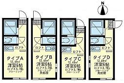 ユナイト川崎J-First(ジェイファースト)[2階]の間取り