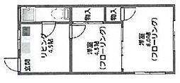 兵庫県神戸市長田区長田天神町4丁目の賃貸アパートの間取り